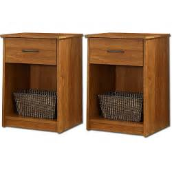 mainstays nightstand end table set of 2 walmart com
