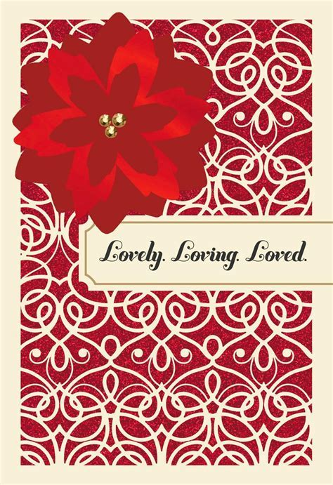 Lovely and Loving Wife Christmas Card   Greeting Cards