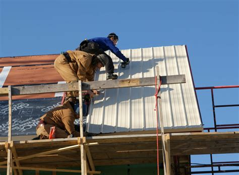 metal roof installation images