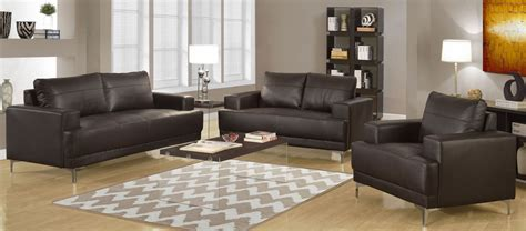 Brown Bonded Leather Living Room Set 8603br Monarch Brown Leather Living Room Set