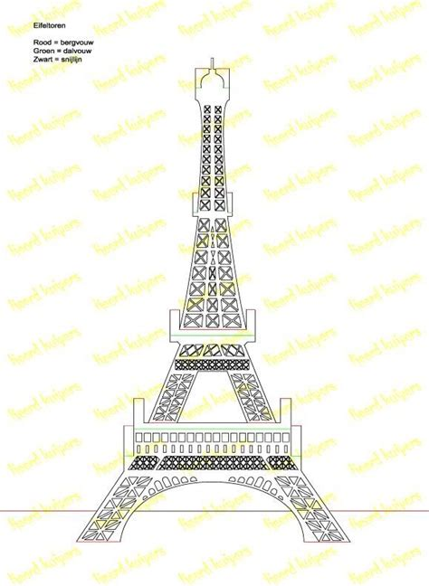 eiffel tower pop up card template pdf eifeltoren pattern kirigami medium photos