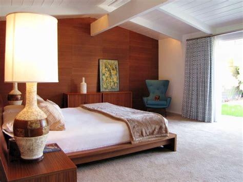 chic mid century modern bedroom designs  throw