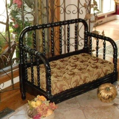 bed into bench old bed made into a bench stuff i ve made pinterest