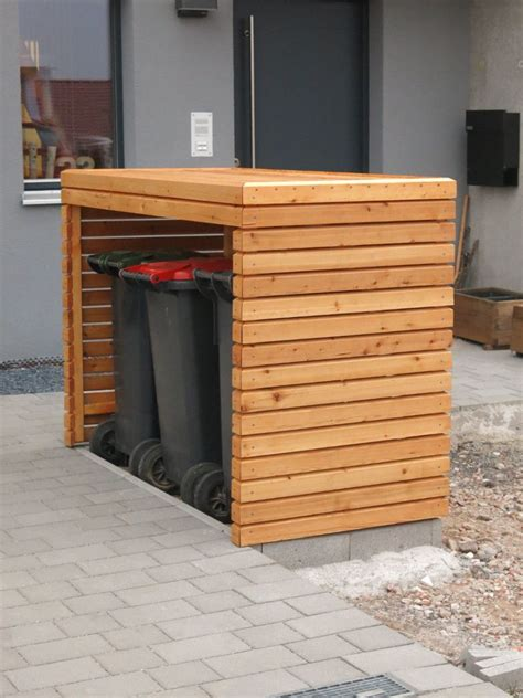 muelltonnenbox fertig muelltonnenbox aufbewahrung garten