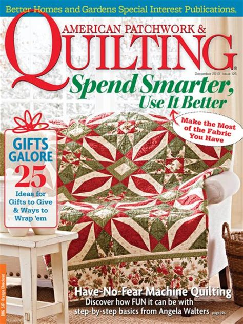 American Patchwork And Quilting Patterns - american patchwork quilting december 2013