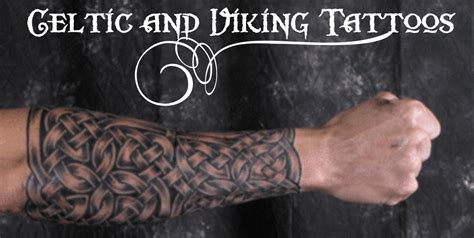 traditional viking tattoo on sleeve