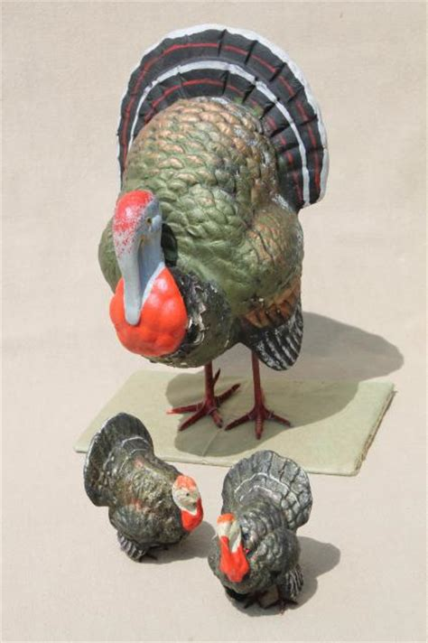 How To Make A Paper Mache Turkey - vintage germany papier mache or composition