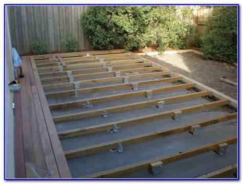 Deck On Concrete Patio by Building A Deck Concrete Patio Decks Home