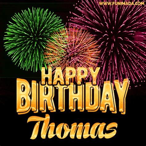 wishing   happy birthday thomas  fireworks gif animated greeting card