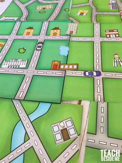 design free map build a city map printable geography set teach beside me