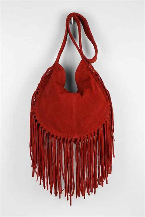 ecote bettina suede fringe hobo bag outfitters