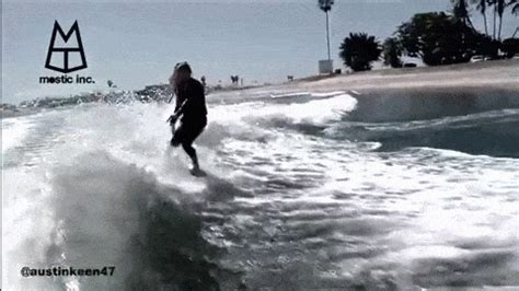 boat wake gif this guy can surf the hell out of a boat wake huffpost