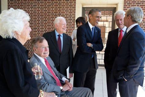 George H W Bush Date Of Birth file five u s presidents in 2013 jpg wikimedia commons