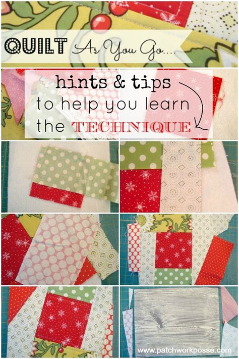 quilt as you go hints and tips