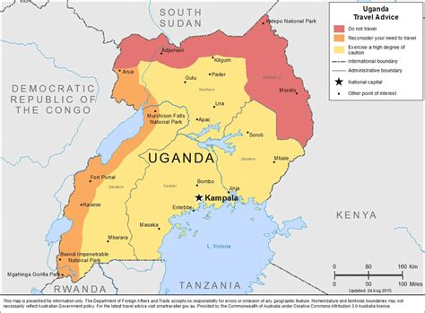 map of uganda uganda