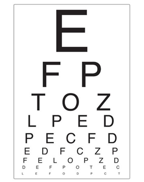 printable eye test chart australia eye chart opticians role play free early years