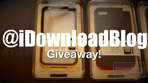 Iphone 4s Giveaway - giveaway four sgp iphone 4 cases neo hybrid ii case video review