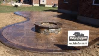 pouring a concrete patio