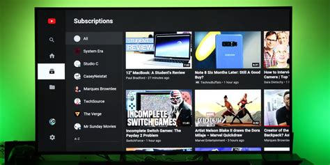 android layout like youtube youtube on android tv redesigned now lets you adjust