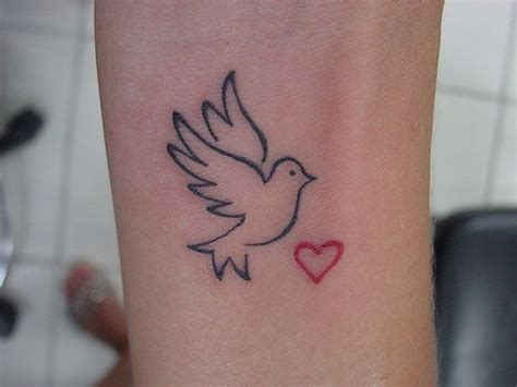 bird outline tattoo with fingerprint in white ink ideas