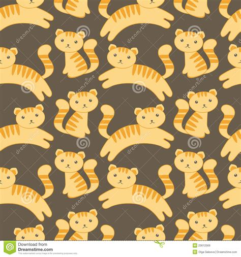 kitten pattern background cute kitten pattern royalty free stock images image