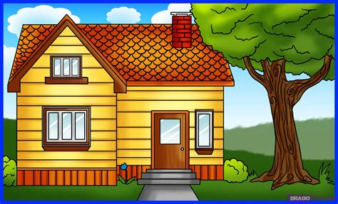 how to draw a for simple house drawing for colouring how to draw a house 5 coloring pages lightofunity