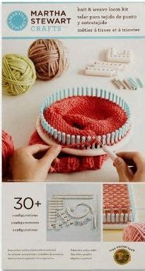 martha stewart knitting loom patterns martha stewart crafts knit weave loom kit