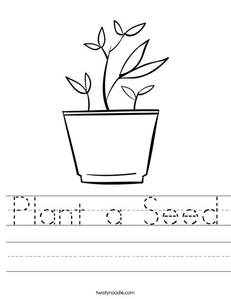 Seed Worksheets For Kindergarten by Plant A Seed Worksheet Twisty Noodle