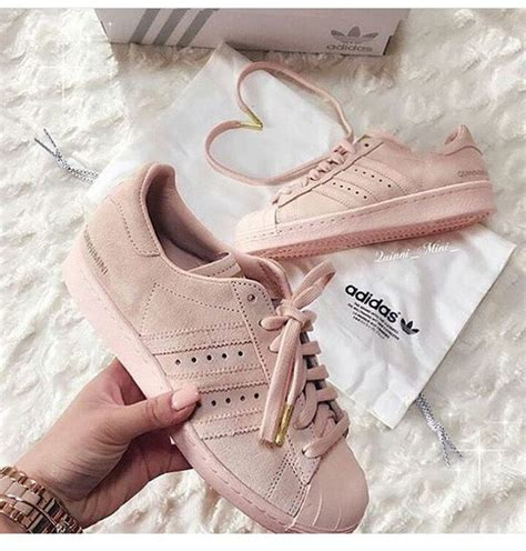 shoes adidas shoes adidas adidas superstars blush pink baby pink instagram beige