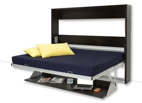 wall bed and desk combo transforming desk bed double smart study