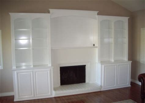 built  white entertainment center  cabinet