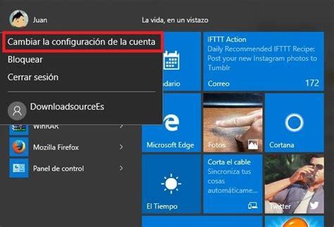 cambiar imagenes inicio windows 10 como cambiar la contrase 241 a de inicio de sesi 243 n en windows