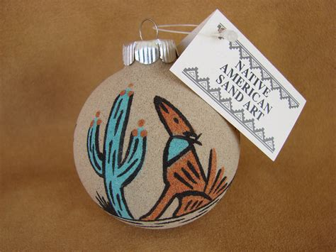 navajo made sand christmas ornaments american sandpainting ornament handmade sp09 treasures of new mexico