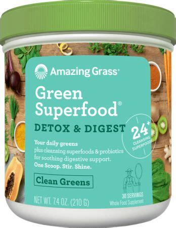 Pros Cons Green Superfood Detox by Amazing Grass Detox Digest Green Superfood At
