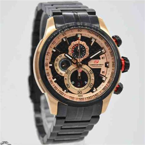 Chronoforce Black jual jam tangan pria chronoforce 5268mbr rosegold black