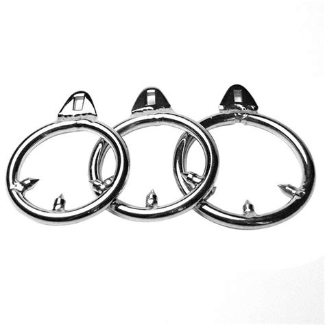 cage chastity rings 3size stainless steel male chastity device ring cage cock