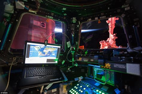 Iss Interior by Nasa Photograph Shows Interior View Of Iss Cupola Module