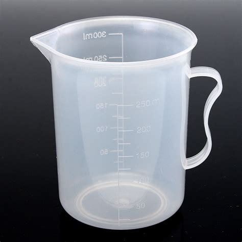 250ml plastic measuring cup clear double graduated