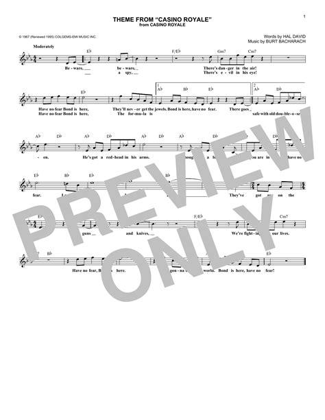 theme music casino royale theme from casino royale sheet music direct