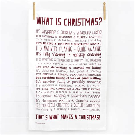 christmas tea towel with christmas poem by bespoke verse