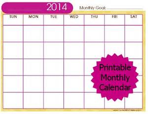 printable monthly calendar template 2014 free stuff 2014 printable monthly calendar carrie with