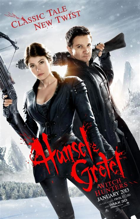 hansel and gretel hansel and gretel witch hunters red band trailer and poster filmofilia