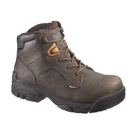 wolverine 6 quot brek durashocks waterproof steel toe boot brown
