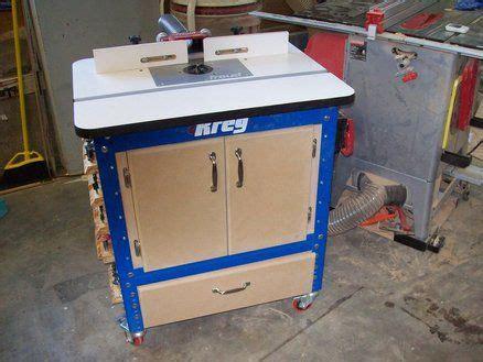 kreg router table cabinet enclosed kreg router table wood work magazine tips