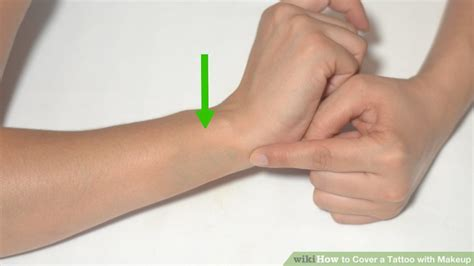 how to hide a tattoo on your wrist 2 easy ways to cover a with makeup wikihow