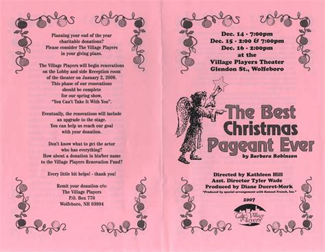 the best christmas pageant ever play script
