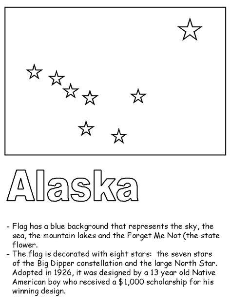 Alaska State Flag Alaska Flag Coloring Page