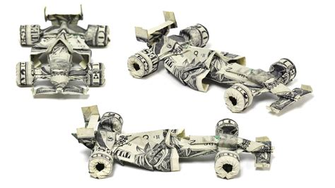 Dollar Bill Origami Car - origami money cars formula one digital racing cars