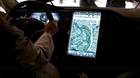 Tesla Navigation Tesla S Dashboard Gps And Instrument Panel