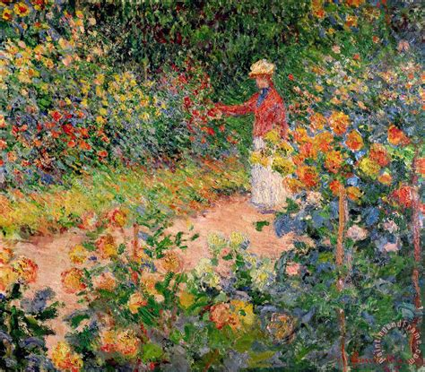 garden paintings claude monet garden at giverny painting for sale